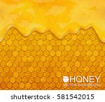 Vector Background Of Honeycomb...