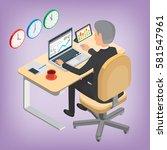the financier  businessman ... | Shutterstock .eps vector #581547961