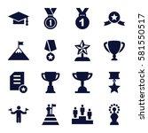 achievement icons set. set of... | Shutterstock .eps vector #581550517