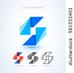 vector abstract letter s logo.... | Shutterstock .eps vector #581552401