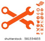 wrenches icon with bonus setup... | Shutterstock .eps vector #581554855