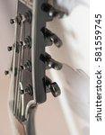 close up 7 electric guitar... | Shutterstock . vector #581559745