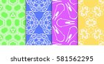 set of geometric floral... | Shutterstock .eps vector #581562295
