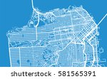 san francisco vector city map | Shutterstock .eps vector #581565391