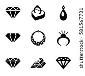 precious icons set. set of 9... | Shutterstock .eps vector #581567731