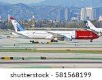 los angeles california  ... | Shutterstock . vector #581568199