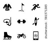 sport icons set. set of 9 sport