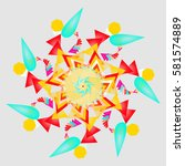abstract mandala with unusual... | Shutterstock .eps vector #581574889