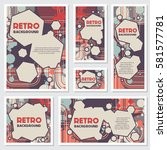 old retro vintage style... | Shutterstock .eps vector #581577781