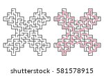 vector labyrinth 84. maze  ... | Shutterstock .eps vector #581578915