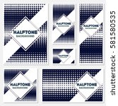 vintage halftone style... | Shutterstock .eps vector #581580535