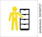 employee on white background   Shutterstock .eps vector #581583727