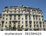 haussmannian building in paris  ... | Shutterstock . vector #581584624