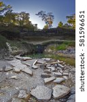 a vertical panorama of... | Shutterstock . vector #581596651