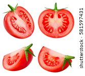 tasty tomatoes collection... | Shutterstock . vector #581597431
