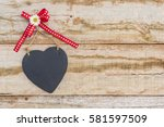 Love Heart With Red Ribbon Bow...