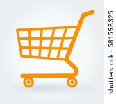 flat design  store cart vector...