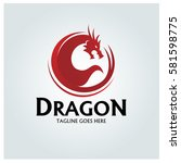 Dragon Logo Design Template....