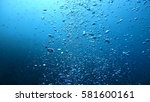 water bubbles in the sea