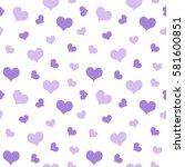 purple hearts valentine's day...   Shutterstock .eps vector #581600851