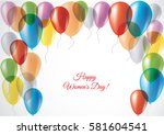 delicate 3d greeting card for...   Shutterstock .eps vector #581604541