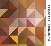 triangle pattern in warm colors | Shutterstock . vector #581604661