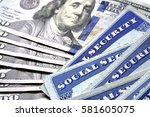social security cards for... | Shutterstock . vector #581605075