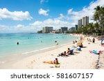 honolulu  hi  september 27 ... | Shutterstock . vector #581607157
