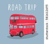 Double Decker Red Bus Vector...