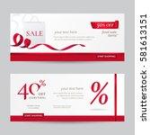 set of stylish horizontal... | Shutterstock .eps vector #581613151
