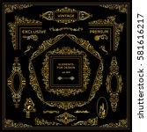 vector set of vintage elements... | Shutterstock .eps vector #581616217