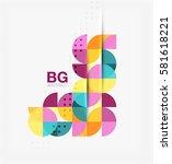 modern elegant geometric... | Shutterstock .eps vector #581618221