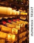 champagne bottles inside a... | Shutterstock . vector #581619