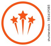 star salute rounded icon.... | Shutterstock .eps vector #581619385