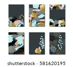 set of creative universal cards ... | Shutterstock .eps vector #581620195