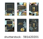 set of creative universal cards ... | Shutterstock .eps vector #581620201