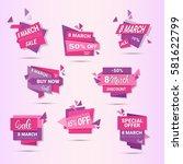 8 march international womens... | Shutterstock .eps vector #581622799