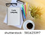 business concept   top view... | Shutterstock . vector #581625397