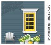 architectural element window...   Shutterstock .eps vector #581627197