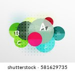 colorful glossy circle... | Shutterstock .eps vector #581629735