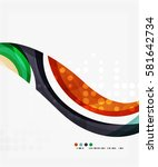 business corporate wave... | Shutterstock .eps vector #581642734