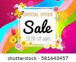 spring. sale. | Shutterstock .eps vector #581643457