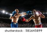 box match best moments . mixed... | Shutterstock . vector #581645899