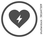heart power rounded icon.... | Shutterstock .eps vector #581647309