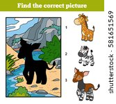 find the correct picture ... | Shutterstock .eps vector #581651569