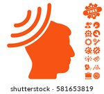 radio reception mind icon with... | Shutterstock .eps vector #581653819