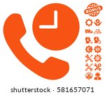 phone time pictograph with... | Shutterstock .eps vector #581657071