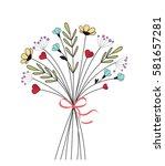 vector illustration of flower...   Shutterstock .eps vector #581657281