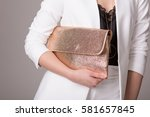 girl in fashionable clothes... | Shutterstock . vector #581657845