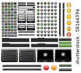 black web design elements set.... | Shutterstock .eps vector #58166596